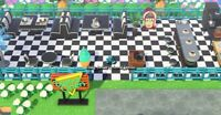 Outdoor Black Diner Set (38 items) Bells Furniture -Animal Crossing New Horizons