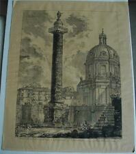 "Antique G. B. Piranesi Engraving ""Colonna Traiana"" in Very Nice Conditon Ediz PV"