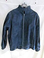 Women's Vintage M&S Navy Blue Suede Jacket, UK size 16/EUR 44