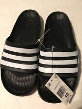 pretty nice f304d f86e1 Adidas Duramo Men Slides Size 10 BlackWhite
