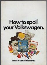Volkswagen Accessories 1971-72 UK Market Brochure Beetle Karmann Ghia 1600 411