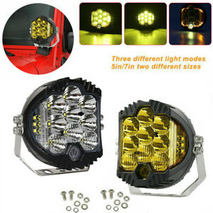 5/7inch 50W LED Work Light Pods Spot Flood Combo Fog Lamp Offroad Driving Car