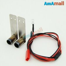 RC 1/10 Double Metal Tuned Pipe with Light for OnRoad Drift Touring Car Upgrade
