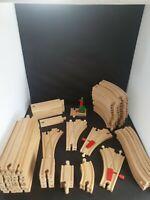 Brio / Non Brio Wooden Train Set Bundle 100 + Pieces Train Track, ELC Thomas etc