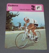 FICHE CYCLISME 1970 VITTORIO ADORNI ITALIA GIRO TOUR WIELRIJDER CICLISMO