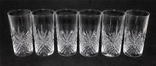"Cristal d'Arques JG Durand FONTENAY 5 3/4"" Highball Glasses Crystal - Set of 6"