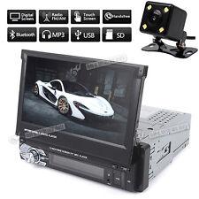 "1 Din Single 7"" HD Touch Screen Car Bluetooth Stereo Radio MP3 MP4 MP5 + Camera"