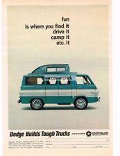 1965 Dodge A100 Sportsman Van Camper Fun Is Where You Find It Vtg Print Ad