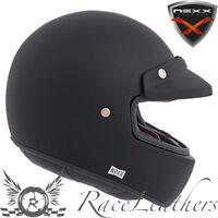 Nexx XG100 Purist Negro Retro Casco de Moto + Clip Gafas Máscara