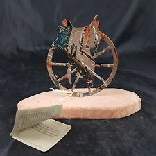 Lazart Reiter Pferd Western Stein, Metall, Emailiert Briefbeschwerer, Paperweig