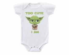 Star Wars Yoda Too Cute I Am Baby Onesie or T-shirt