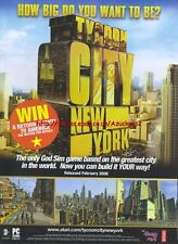 "Tycoon City New york ""Release February"" 2006 Magazine Advert #4698"