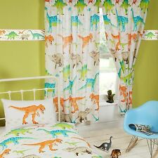 """Right Home Dinosaur World Lined Curtains 54"""""""