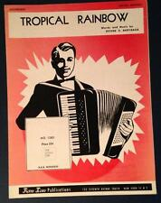 vintage 1959 Accordian Tropical Rainbow sheet music & words Pietro Bertieaux