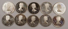 1976 Canada Proof Silver 10 Dollar Coins Montreal Olympics ~ 14.5 Oz Of Silver