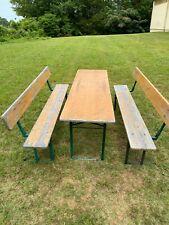 Authentic German Vintage Murauer Biergarten (Beer Garden) Table & benches