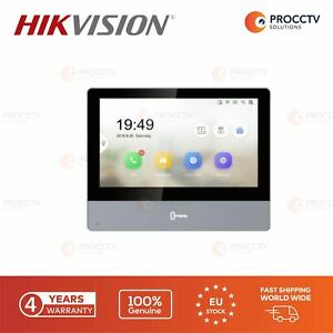 Hikvision DS-KH8350-WTE1 (Black), Wi-Fi, 7-inch Touch-Screen, SD card, Genuine