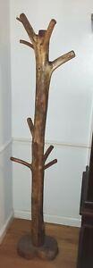Antique hall tree coat rack