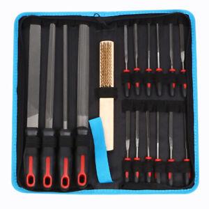 16pcs Metal File Set Premium Carbon Steel Hand File Kit Woodwork Model Hobby DIY