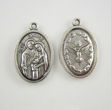 100pcs of 1 Inch Catholic Oval Holy Family Pray for Us Medal
