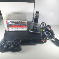 Playstation 3 PS3 Slim 320GB Console Bundle 6 Games 1 Official Controller Tested