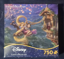 DISNEY - TANGLED UP IN LOVE - Thomas Kinkade Jigsaw Puzzle RAPUNZEL *FREE SHIP*