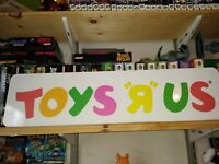 "Toys R Us Aluminium Sign 6""x24"" Big!  Retail display, FREE SHIPPING! TRU PROMO"