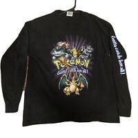 Vintage 90's Pokemon Nintendo Gotta Catch em All  T Shirt - Size Medium
