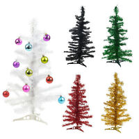 Christmas Tinsel Tree Xmas Window Decoration Ornament Festive Display Garland