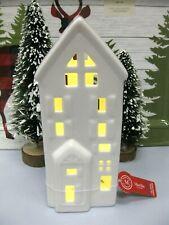 Martha Stewart Light Up LED Pierced Tall House White Christmas Holiday Village