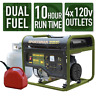 Sportsman Portable Generator 4000/3500-W Dual Fuel Powered LPG/Regular Gasoline
