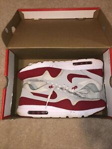 Nike Air Max 1 Ultra Essential size 13 OG anniversary red White Gray Air Max Day