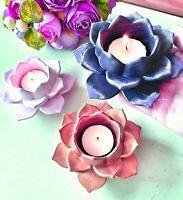 Moule Silicone Bougeoir Fleur 3D Nénuphar Lotus Tealight 13cm pour Plâtre Résine