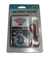Rdgtools Probador de baterías puede probar 14 tipos de ordinario las pilas de equipos de prueba