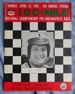 Trenton NJ Speedway April 25, 1965 Nat'l Champ. Auto Racing Program A.J. FOYT