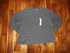NEW Mens EDDIE BAUER Heather Charcoal Gray Long Sleeve Shirt Size XXL 2XL