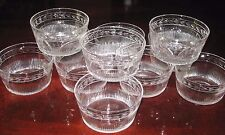 Set 11 Edinburgh Scottish Crystal Leaf Dessert Fruit Bowls E & L Scotland