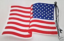 """American Flag Waving Left""  Biker Helmet / USA Sticker"