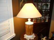 FABULOUS OLDER GENUINE BAMBOO TABLE LAMP LIGHT, TIKI, NAUTICAL, OCEAN, BEACH