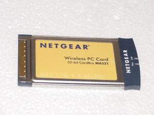 NETGEAR WIRELESS PC CARD MA521 32-BIT