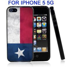 Texas Grunge Flag For Iphone5 5G Case Cover
