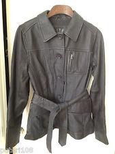 UGG WOMEN BELDIA LAMBSKIN LEATHER JACKET COAT BLACK Size M (8-10) -TAG