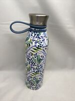 NEW! Manna Haute Blue/Green Floral-Stainless Steel 18 Oz Water Bottle Hot / Cold