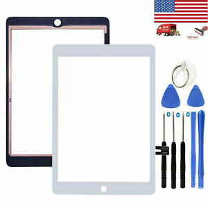 For iPad 6 6th Gen A1893 A1954 Touch Screen Digitizer Replacement+IC White