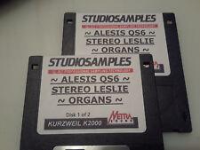 KURZWEIL ~ ALESIS QS6 ~ STEREO ORGANS w/LESLIE ~ VAST PROGRAMS  ~ 2 DISK SET!!!!