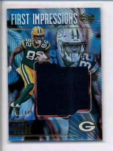 J'MON MOORE 2018 PANINI ILLUSIONS FIRST IMPRESSIONS ROOKIE JERSEY #/499 AJ4172