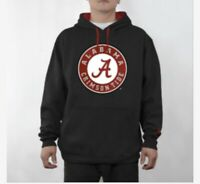 NCAA University Alabama Crimson Tide Sweatshirt- Hooded Icon Black College