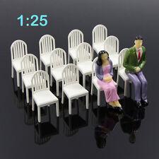 ZY18025 12pcs Model Train Railway Leisure Chair Settee Bench Scenery 1:25 Scale