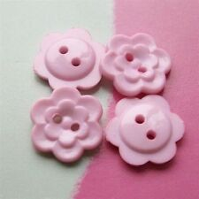 """25 Flower Cardigan Baby Bebe Kid Sewing Buttons Craft 12.5mm 0.5"""" Pink D33"""
