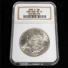 1889 S US Morgan Silver $1 One Dollar NGC Redfield MS64 Better Date Coin FC0010